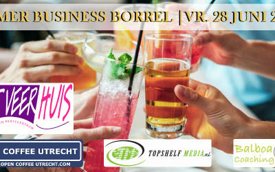 28 juni 2019 | Zomer Business Borrel – Sluit het 1e halfjaar gezellig af!