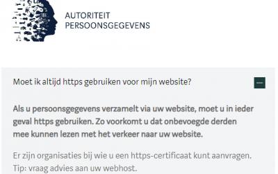 Is een beveiligingscertificaat (https verbinding) verplicht op mijn website?