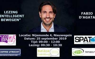 25 september 2019 | Netwerkevent & Lezing Intelligent Bewegen door Fabio D'Agata van SPAT Verandert