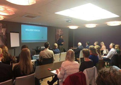 """Fabio D'Agata van Spat Verandert verzorgde de lezing """"Intelligent Bewegen"""""""