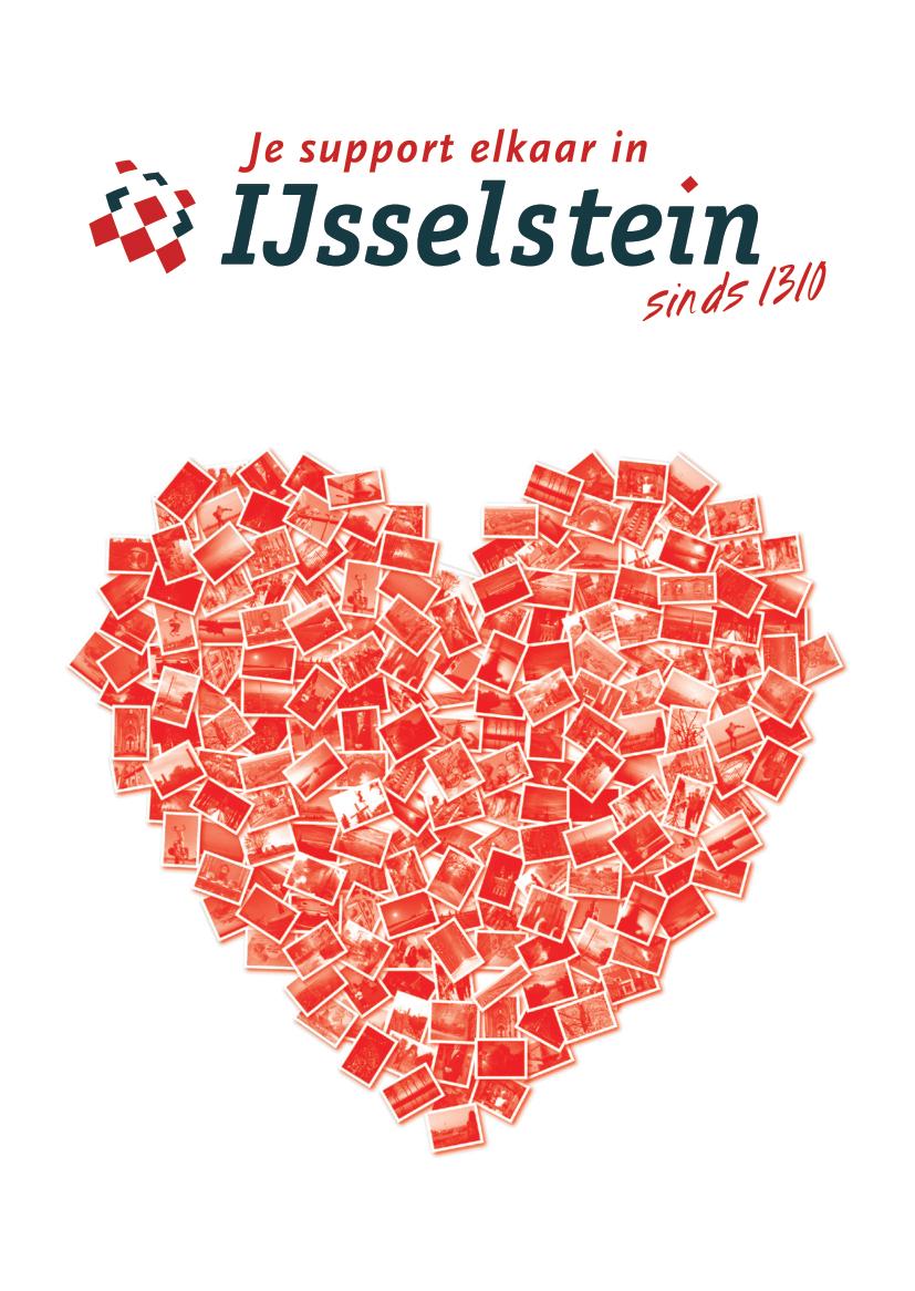"""Voorzijde van de wenskaart """"Een hart onder de riem voor IJsselstein"""""""